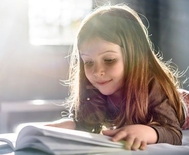 Girl Reading Tips for Parents