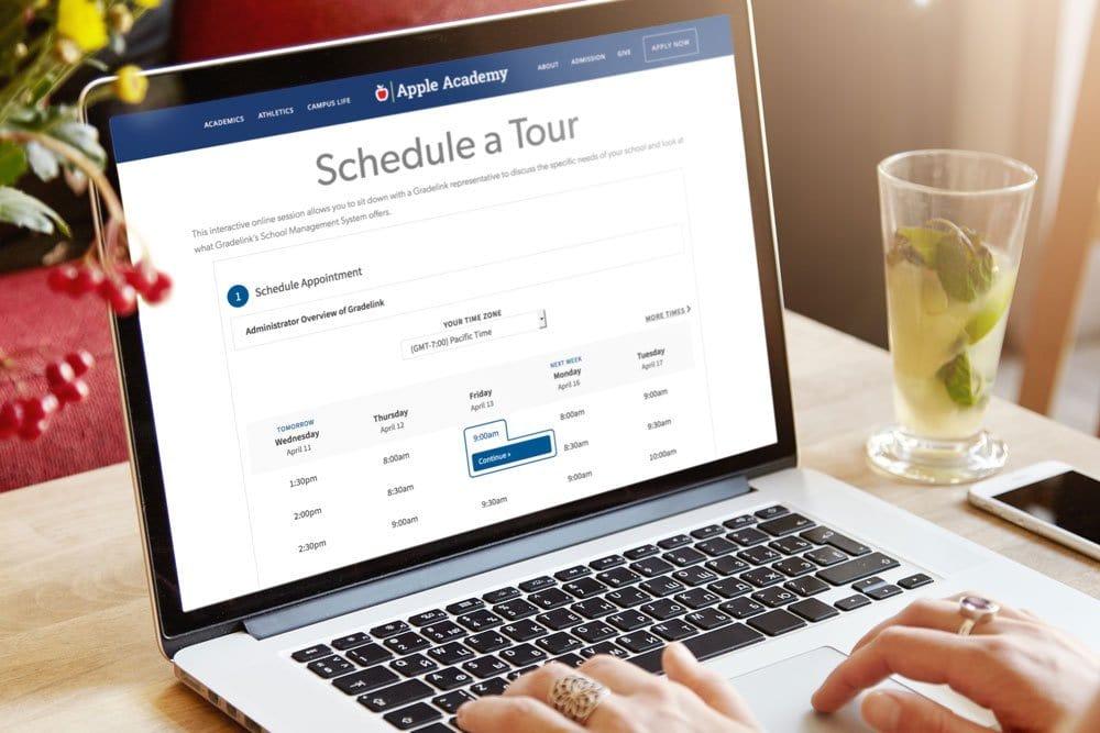 Schedule a tour online