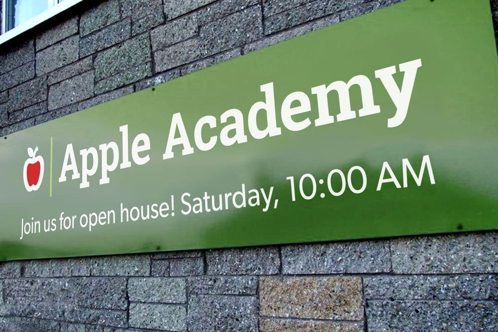 School open house banner