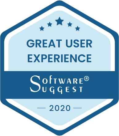SoftwareSuggest Great User Experience Award
