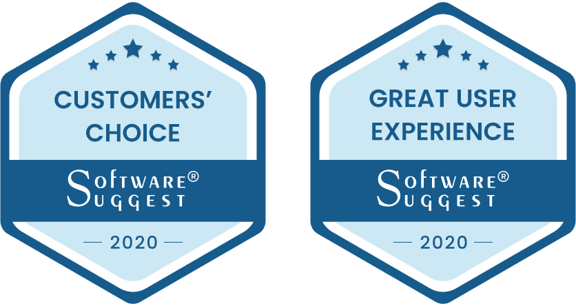 SoftwareSuggest Customers' Choice and Great User Experience Awards