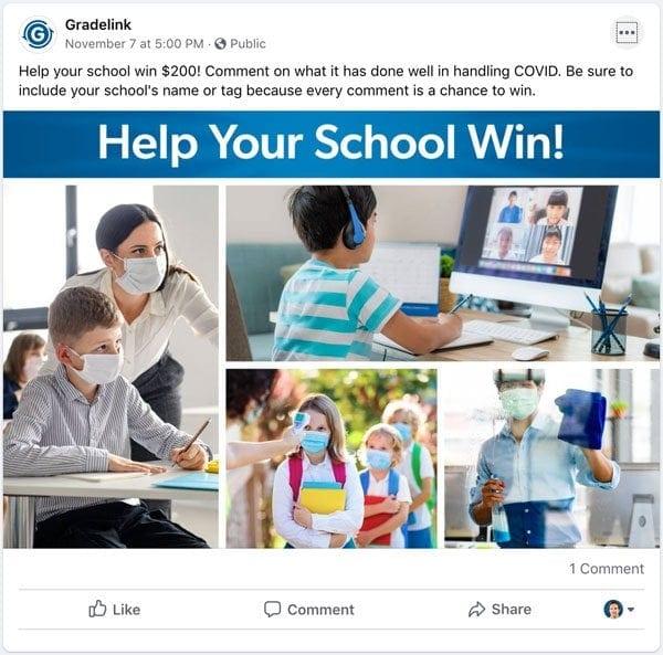 Facebook COVID Promo Post