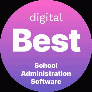 Digital Best School Administration Software Badge