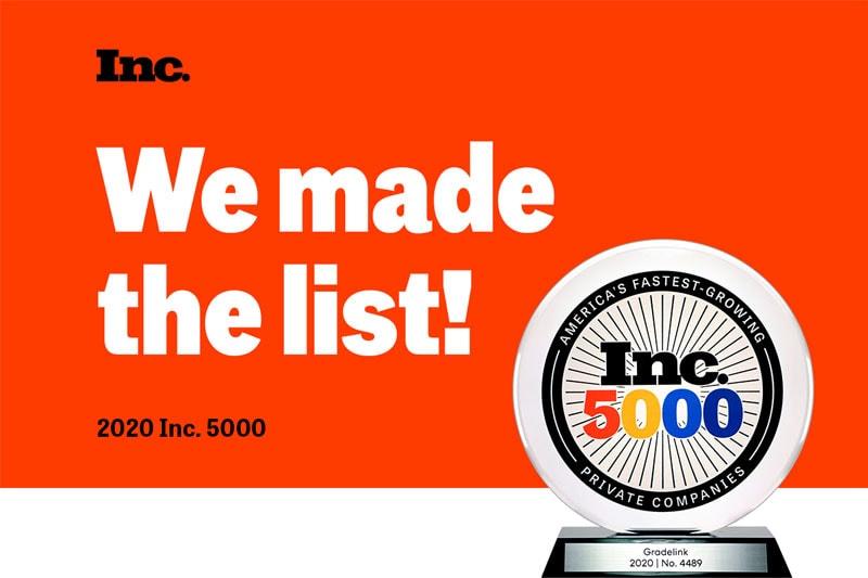 Inc. 5000 Fastest Growing Award